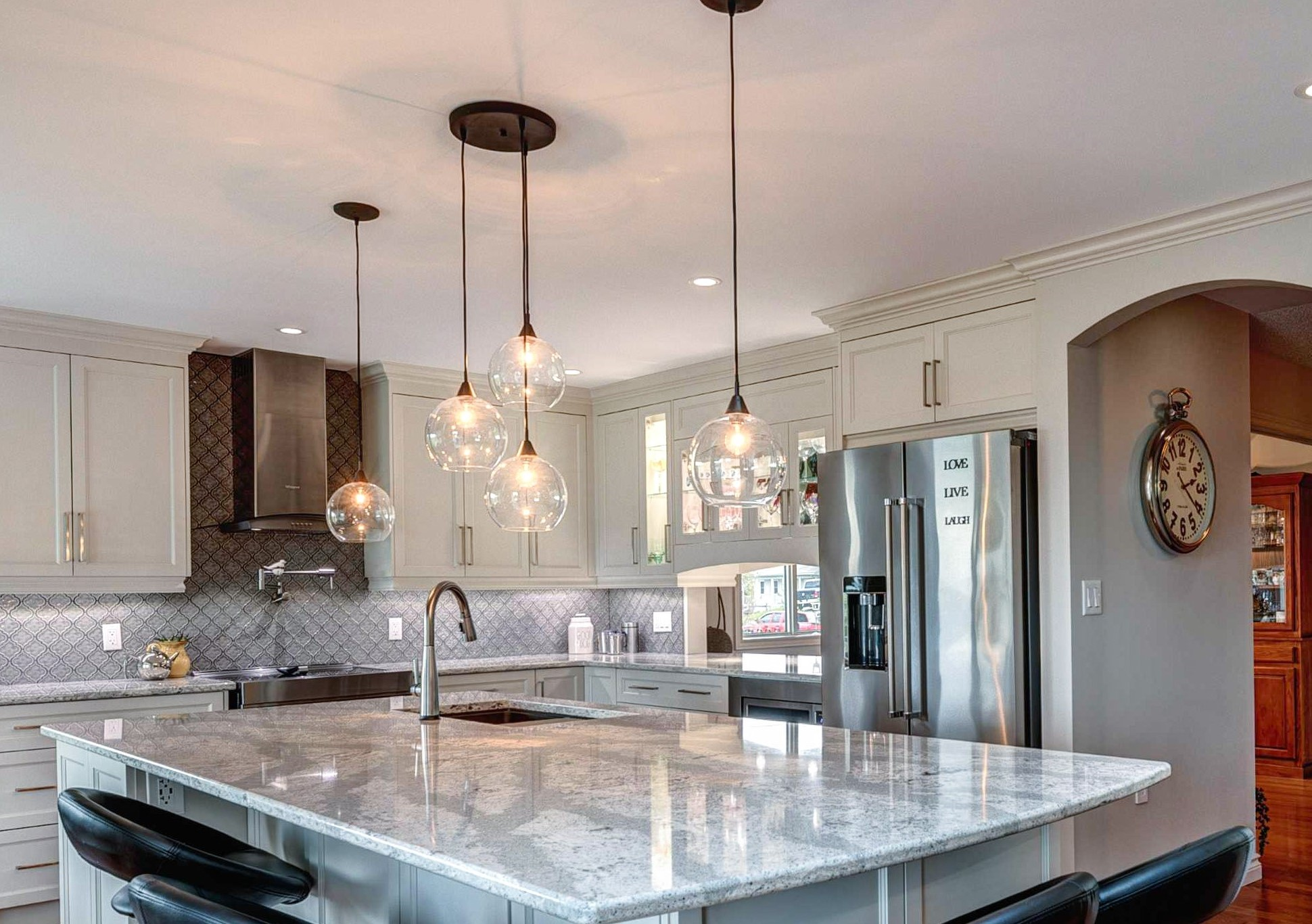 Lighting a kitchen Island or Peninsula